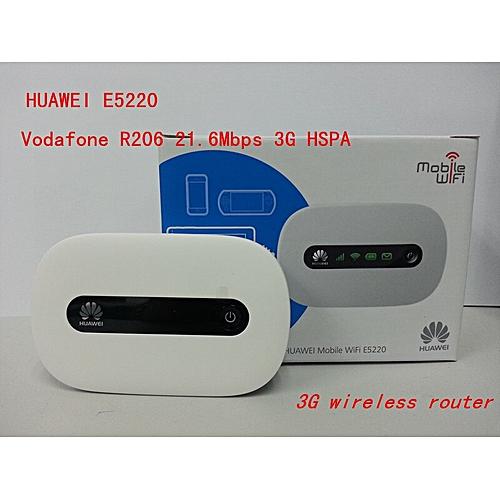 Huawei E5220 Vodafone R206 21 6Mbps 3G HSPA UMTS Wireless Router Pocket  WiFi Mobile Hotspot PK e587 e5330 e331 e3131