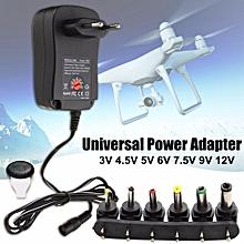 3/4.5/5/6/7.5/9/12V 1A Universal Voltage Adapter Converter Europe EU Plug 30W