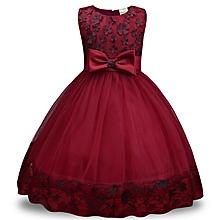 New Children dress lace dress Girls Bow dress skirt