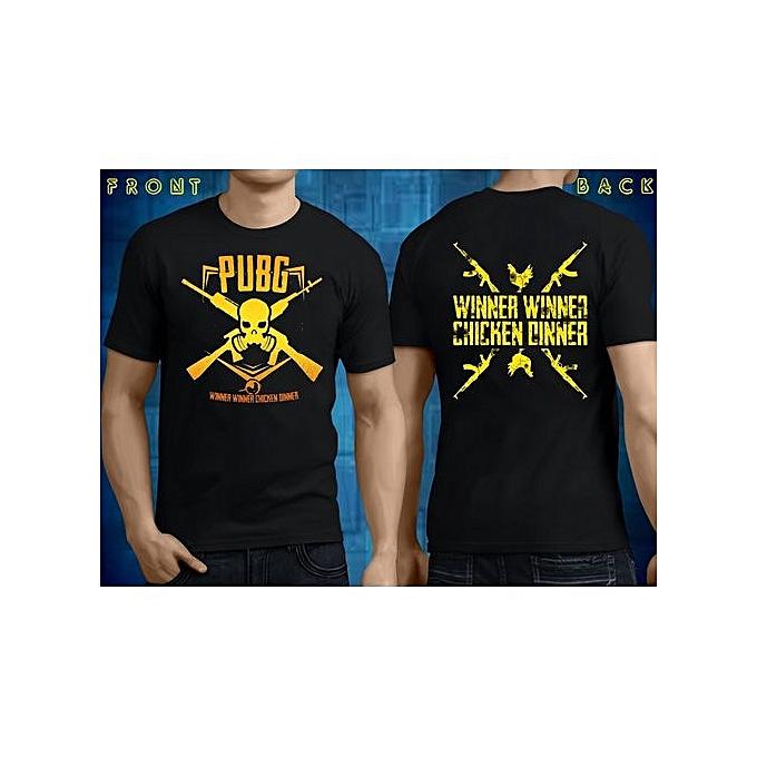 97d7f1110 Winner Winner Chicken Dinner PUBG T-shirt Casual Tops Men O Neck T Shirt  Adult
