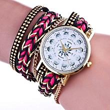 2017 Fashion Women Weave Wrap Around Leatheroid Quartz Wrist Watch HOT