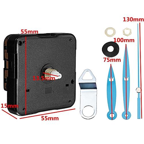 2Pcs Quartz Silent Clock Movement Mechanism DIY Kit Hour Minute Second Hand