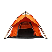 Backpack Car Camping Tent for 2-3 Persons Automatic Instant Self Pop Up Tent Orange