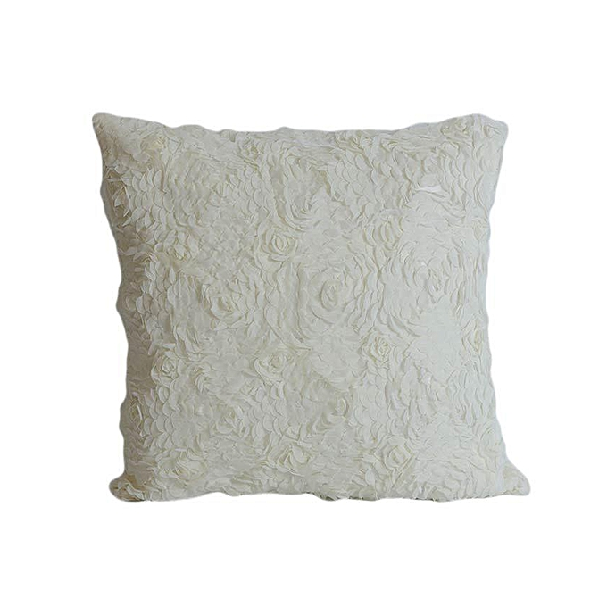 Buy Sirocco Rose Pattern Decorative Pillow Large White Best Gorgeous Large White Decorative Pillows