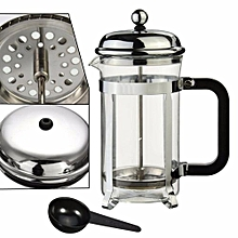 French Press Tea Coffee Maker Cafetiere Cup Frame Heat-resistant Glass Pot Steel