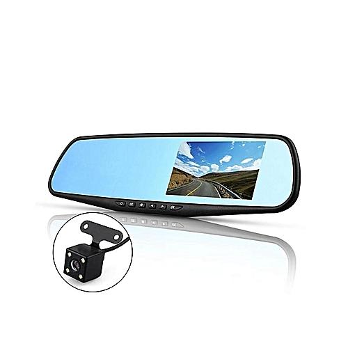 4 3'' FHD Dual Lens Video Recorder Dash Cam Car DVR Rear View Mirror Camera  SD