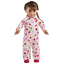 "Cute Pajamas Handmade Pink Nightgown Clothes Set Fits 18"" American Girl Doll"