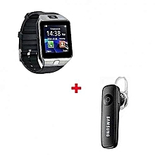 DZ09 Smart Watch Phone for Android + Free Bluetooth  - Silver Black