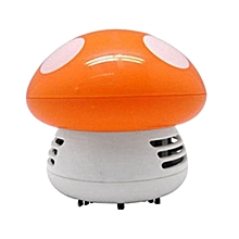 Mini Mushroom Desk Cleaner Vacuum Cleaner Cute Corner Table Dust Collector orange