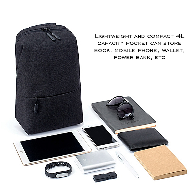 310eac79a161 ... Xiaomi Mi Sling Bag Leisure Chest Pack Small Size Wear-resistant  Shoulder Type Backpack Crossbody
