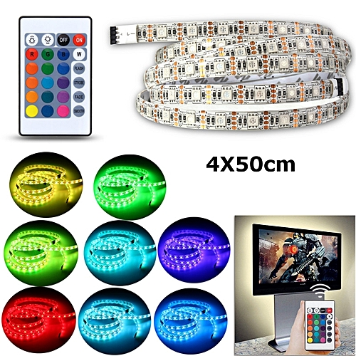 Generic 5V USB Powered RGB Colour Change 5050 LED Strip Computer USB