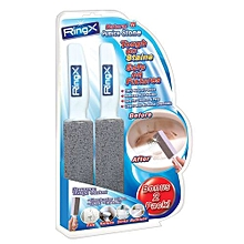 Natural Pumice Stone Toilet Fixture Kitchenware Heavy Duty Cleaning Brush - Grey & White