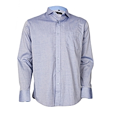 Blue Long Sleeved Formal Shirt