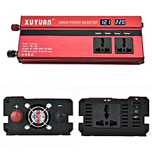 XUYUAN 2000W Car LED Power Inverter Converter DC 24V to AC 220V 4 Electronic USB Ports