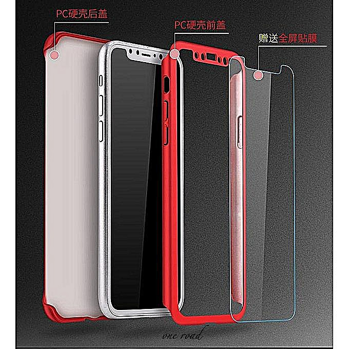newest collection 4e22a 5bbe6 For Xiaomi Redmi Note 5 / Redmi Note 5 AI Casing 360 Degree Real Full Body  Ultra-thin Hard Slim PC Case With Tempered Gl