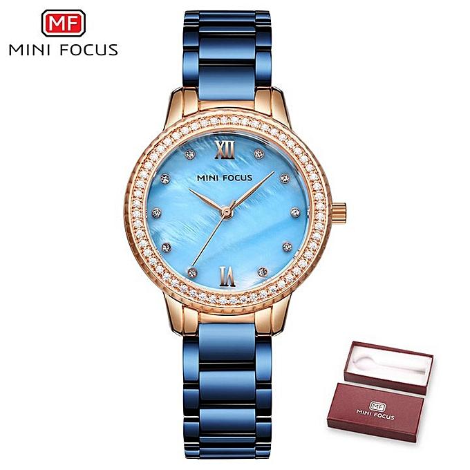 f5eb71dd9 Elegant Casaul Quartz Women Watches Top Brand Luxury Blue Dial Crystal  Decoration Waterproof Dress Ladies Wristwatch