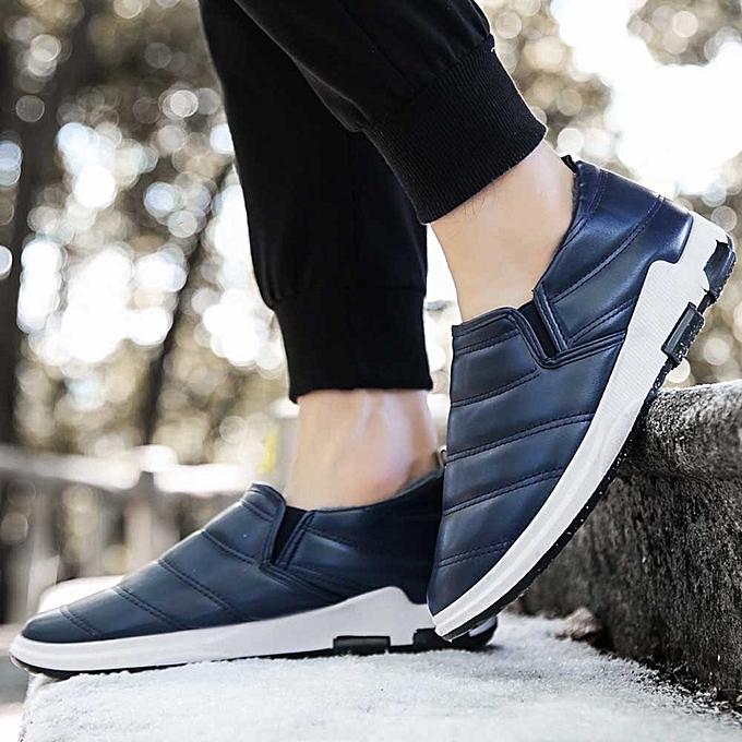 4b916aefed Fashion Men s Winter Plus Velvet Warm Shoes Home Cotton Shoes Snow ...