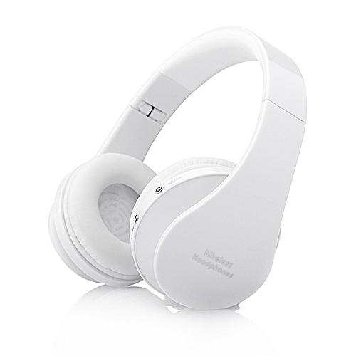 006cfa94f1b Generic Headfone Casque Audio Bluetooth Headset Big Earphone Cordless  Wireless Headphone for Computer PC Head Phone iPhone With Mic Aptx(White)