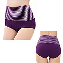 b8b46d6e2c8 Up-Stripped Highwaist Tummy control pure Cotton Panties