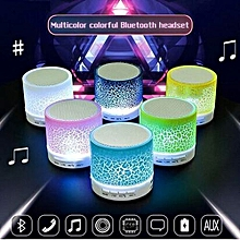 Colour :Green--LED Portable Mini Wireless Bluetooth Speakers With TF USB FM Mic Blutooth Music For Mobile Phone IPhone Tablets Bluetooth Devices