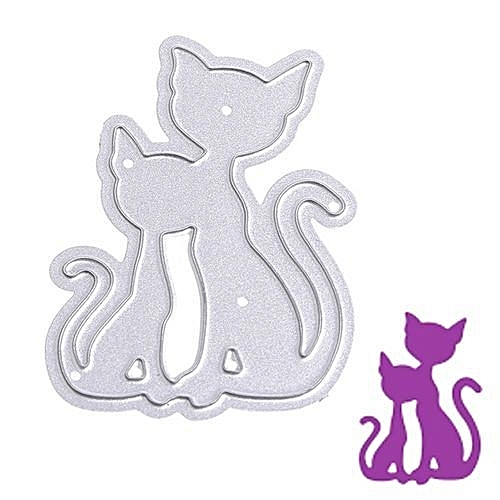buy universal hequeen cat shape scrapbooking die carbon steel diy