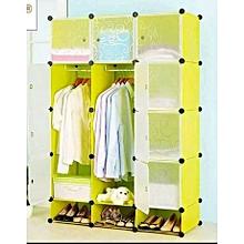 Portable Plastic Wardrobes - 3 Columns - LIGHT GREEN