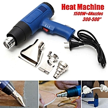 1500W 220V Blue Heat Gun Hot Air Dual Temperature+ 4 Nozzles Power Tool Set