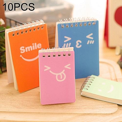 buy generic 10 pcs smiling face print binder ring coil memo pad