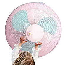 Fan Guard Dust Cover Fan Nets Cover Safety Pink/Blue Nylon Summer Washable Fan Security Cover Household Family