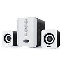 Laptop Subwoofer 3.5mm Jack Music Loudspeaker USB Wired Computer Speakers white