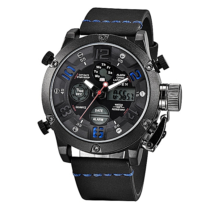 726cb76c4 BIDEN Watches Men Analog Quartz Digital Watch Waterproof Sports Watches for  Men Silicone LED Electronic Watch