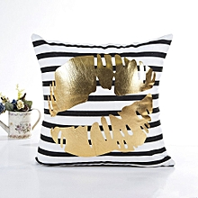 Bronzing Cushion Cover Comfortable Polyester Home Decorative Pillows Cover white
