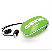 Headphone, A300 3.5mm Earphone Bluetooth Stereo Earphone with Mic(Green)