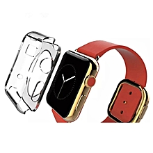 For Apple Watch 42mm Transparent Crystal TPU Case