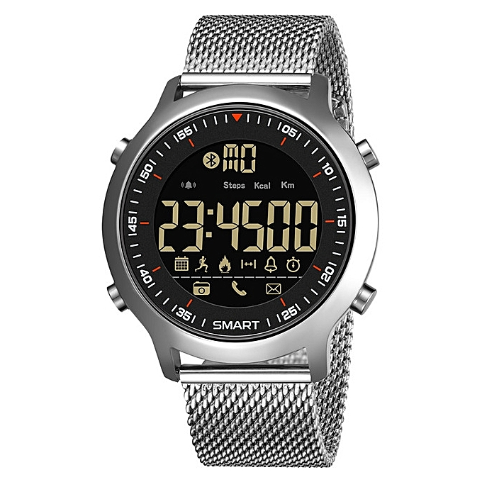 0092c1aa3 Bluetooth Clock Male Smart Watch Run Pedometer Diving Outdoor Sports Watch  50M Waterproof LED Digital Men