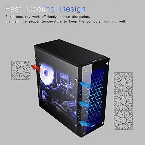 Fast Cooling Light-Transmitting Computer Host Case USB3 0 for ATX Mini ITX  Gaming Desktop PC