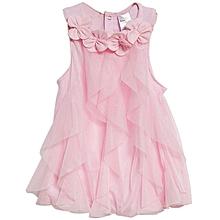 Mesh Baby Girls Dress - Pink