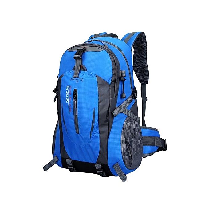 ... 40L Outdoor Sports Backpack Waterproof Climbing Traveling Shoulder Bag  Rucksack 1503 - Blue ... 9241d885ef
