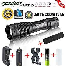 Camping & Hiking Flashlight 5000LM G700 XM-L T6 LED Zoom Flashlight X800 Lumitact Torch Battery Charger
