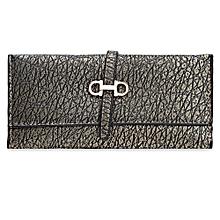 Guapabien Old Classical Style Stone Pattern Embellishment Ladies Metal Hasp Cash Wallet