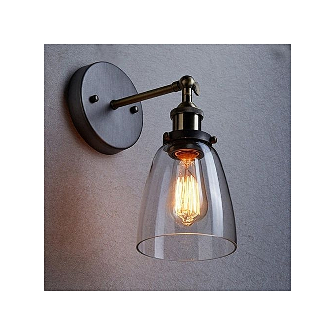 Industrial Wall Light Shades: Buy UNIVERSAL Clear Modern Vintage Industrial Glass Lamp