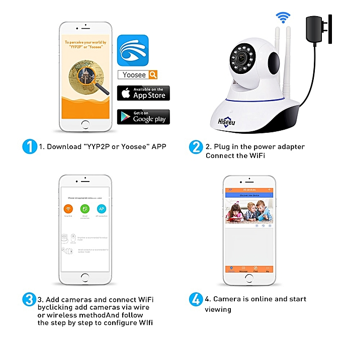 1080P IP Camera Wireless Home Security IP Camera Surveillance Camera Wifi  Night Vision CCTV Camera Baby Monitor 1920*1080(720P with 32G Card)