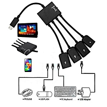 Bluelans 4 In 1 Micro USB Hub OTG Cable Extension Adapter For Android Samsung Tablet