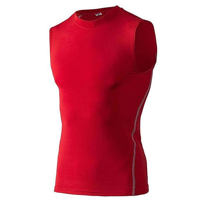 85e81765 Generic Men's Elastic Running Shirts Basketball Tank Tops -Red ...