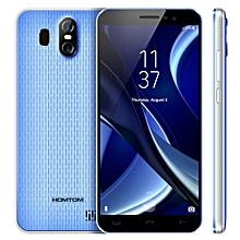 HOMTOM S16, 2GB+16GB, Dual Back Cameras, Fingerprint Identification, 5.5 inch Android 7.0 MTK6580 Quad Core up to 1.3GHz, Network: 3G, Dual SIM, OTA(Blue)