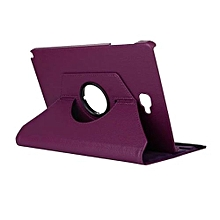 """PU Leather 360 Rotating Case Cover For Samsung Galaxy Tab A A6 10.1"""" P580 P585 S-pen Version (Purple)"""