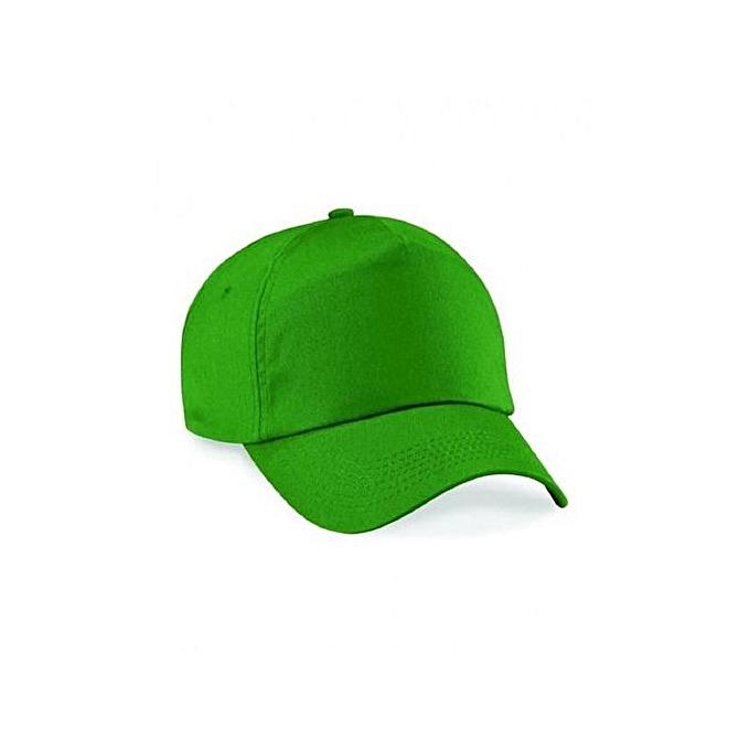 b8bf355c577 Generic Green Plain Baseball Hat   Best Price