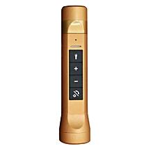 Speaker Outdoor Flashlight Torch Bluetooth Speaker Power Bank FM Radio for Bicycle Bikes-Gold