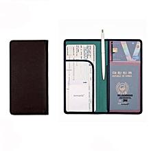 Women Men Document Organiser Passport Tickets Holder Long Bag Card Travel  Wallet 40cc0afe746b6