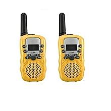 2PCS/Pack T-338 Mini Kids Interphones Portable Hand-held Child Walkie-Talkies-Yellow